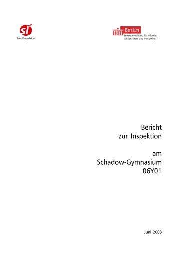 Bericht zur Inspektion am Schadow-Gymnasium 06Y01 - Turmfalken
