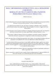 modalità di trattamento del paziente pediatrico in ... - CNA Toscana