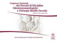 ROMA, 22-24 Aprile 2009 - Collegio dei Docenti di Odontoiatria