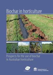 Biochar in Horticulture - NSW Department of Primary Industries