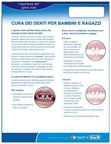 CURA DEI DENTI PER BAMBINI E RAGAZZI - DentalCare.com