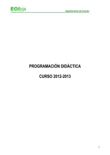 Proyecto curricular de la Escuela Oficial de Idiomas de ... - EOIloja