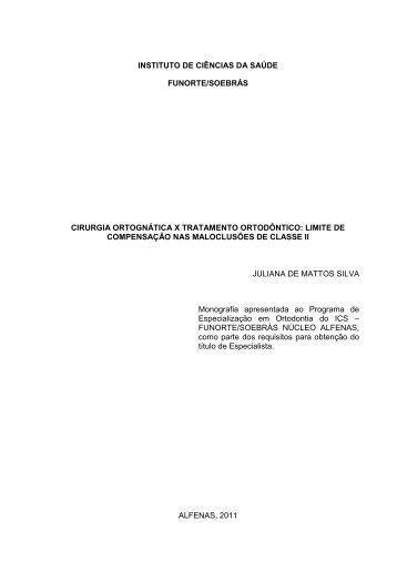 cirurgia ortognática x tratamento ortodôntico - Funorte