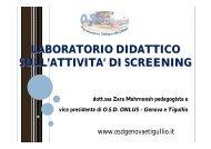 Presentazione screening.pdf - OSD Genova e Tigullio