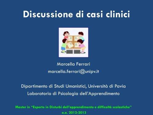 Discussione di casi clinici - master disturbi apprendimento