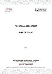 reforma ortográfica guia de bolso - Biblioteca Digital da Câmara dos ...