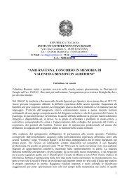 Concorso Valentina Benzoni - Istituto Comprensivo S.Biagio