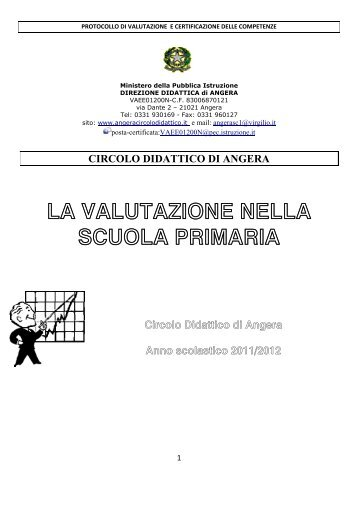 la valutazione nella scuola primaria - Istituto Comprensivo di Angera