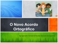 O Novo Acordo Ortográfico - Agrupamento Vertical de Escolas da ...