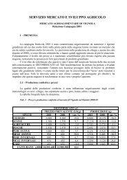 Relazione Campagna 2001 - Comune di Vignola