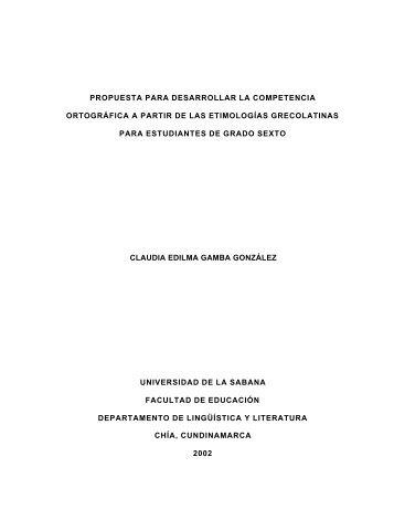 propuesta para desarrollar la competencia ortográfica a partir de las ...