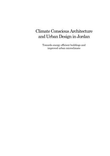 Climate Conscious Architecture and Urban Design in Jordan