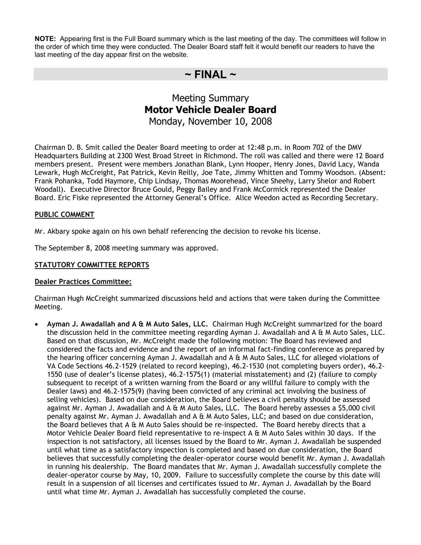 Va Motor Vehicle Dealer Board - impremedia.net