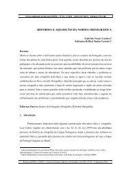 13. reforma e aquisição da norma ortográfica - Portal Catalão