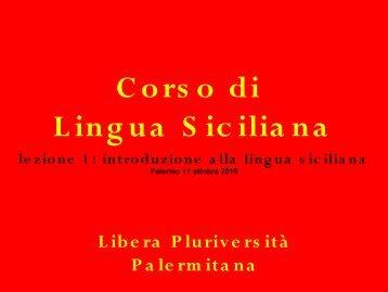 Il Siciliano Standard?!? - Libera Pluriversità Palermitana