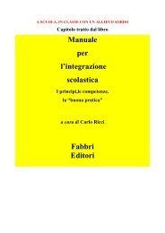 Manuale per l'integrazione scolastica Fabbri Editori - Ufficio ...