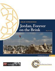 Jordan, Forever on the Brink - Project on Middle East Political Science