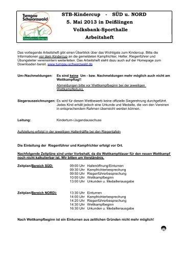 Arbeitsheft Deißlingen 2013 - Turngau Schwarzwald