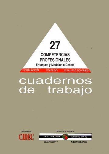 Competencias profesionales. Enfoques y modelos a debate - OEI