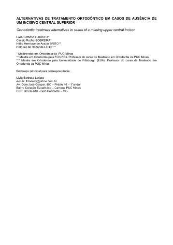 Alternativas de Tratamento Ortodôntico em Casos de ... - Ortocop