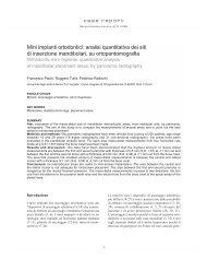 Mini impianti ortodontici: analisi quantitativa dei siti di inserzione ...
