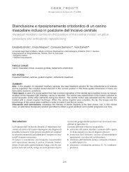 Disinclusione e riposizionamento ortodontico di un canino ...