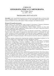 geografia fisica e cartografia - Università del Sannio in Benevento