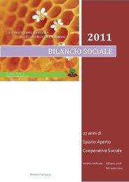 BILANCIO SOCIALE - Spazio Aperto: Home Page