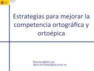 Estrategias para mejorar la competencia ortográfica y ortoépica