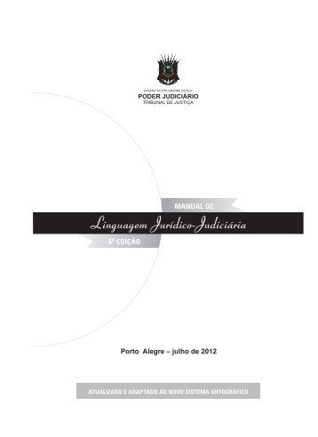 Manual de Linguagem Jurídico-Judiciária.indd - Tribunal de Justiça ...