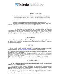 Edital Quiz Toledo 2009 - Reforma Ortográfica - Toledo Presidente ...