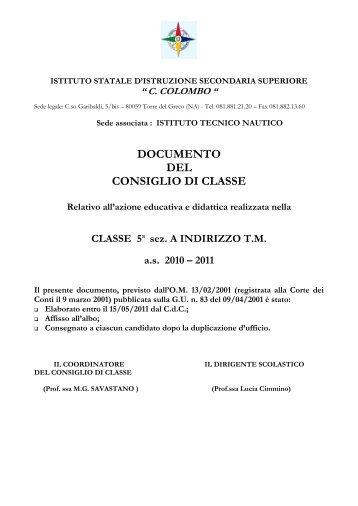 5 a sez. ATM - Iscolombo.It