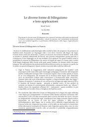 Le diverse forme di bilinguismo e loro applicazioni - Benoît Virole