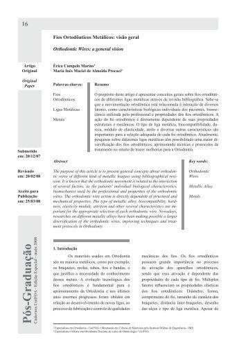 Fios Ortodônticos - UniFOA
