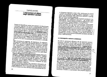 I meccanismi di difesa degli operatori sanitari - TN master geriatria