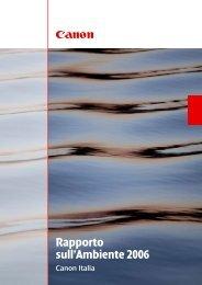Rapporto sull'Ambiente 2007 [PDF, 2 MB] - Canon Italia