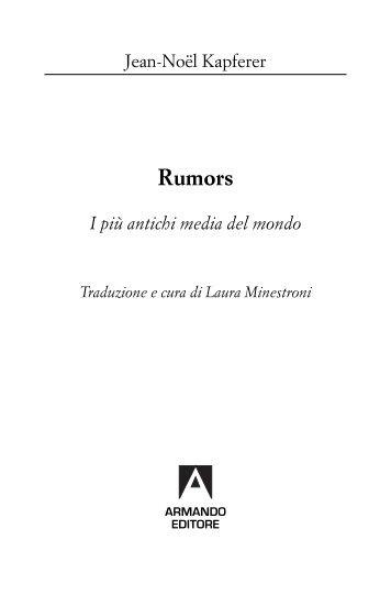 Leggi un estratto - Armando Editore