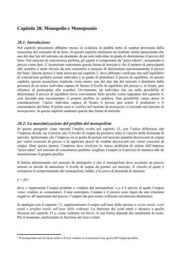 Capitolo 28 - Scienze economiche e metodi matematici