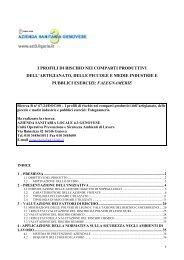 valutazione dei fattori di rischio - Ispesl