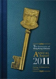annual Report - HKU Libraries