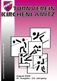 August 2008 81. Ausgabe - Turnverein Kirchenlamitz