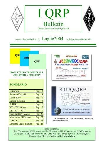 Bollettino Luglio 2004 - Sezione ARI Montebelluna