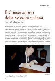 Il Conservatorio della Svizzera italiana (Massimo Zicari) - Società ...
