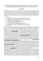 1 I decreti conciliari Optatam totius, Christus Dominus e ... - Cottolengo