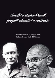 Gandhi e Baden-Powell, progetti educativi a confronto - Schenone