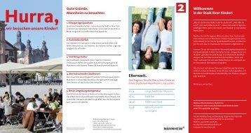 Hurra, wir besuchen unsere Kinder! - Tourist Information Mannheim
