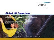 Global HR Operations - Towers Perrin