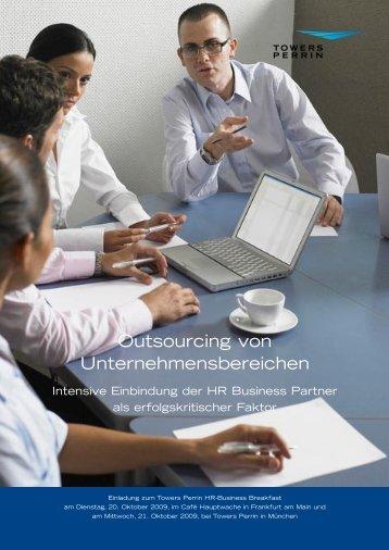 Outsourcing von Unternehmensbereichen - Towers Perrin
