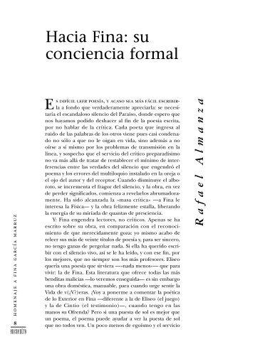 Hacia Fina: su conciencia formal - cubaencuentro.com