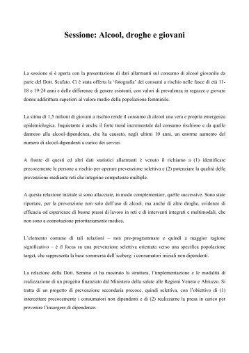 Caterina Pesce - V Conferenza Nazionale sulle droghe